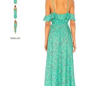 Revolve-BNWT Off the Shoulder Green Floral Dress